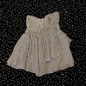 Planet blue white and navy stripe skirt